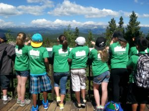 4-H Youth at the Continental Divide